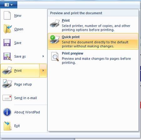 how to change word pad format to pdf