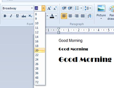 Make Bigger  Letters
