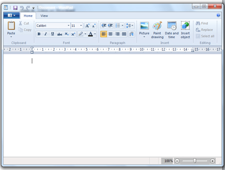 Use WordPad
