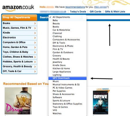 Amazon search bar