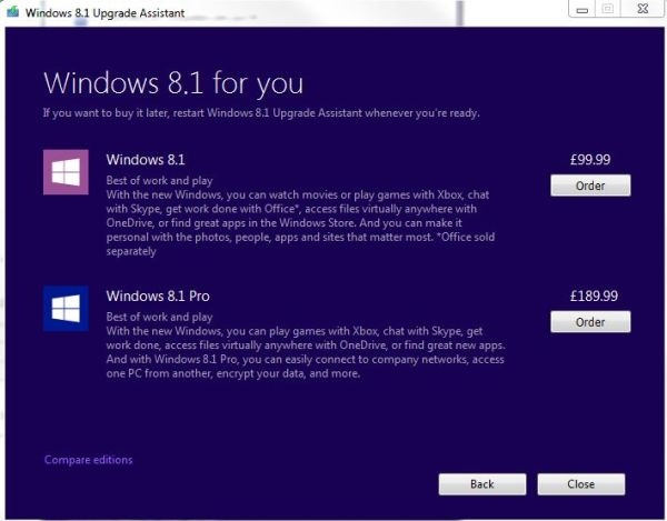 Buying Windows 8.1