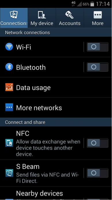 Android wifi settings screenshot