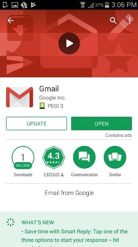 open the gmail app picture