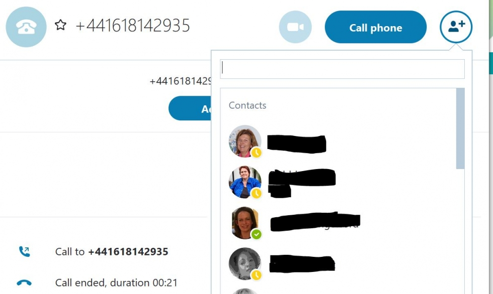 make a group call on skype