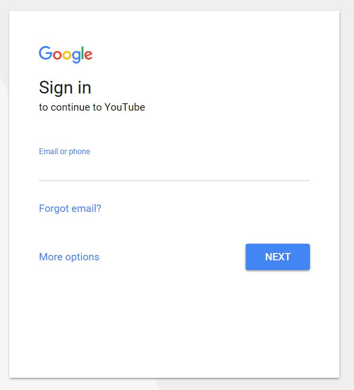 sign into Youtube