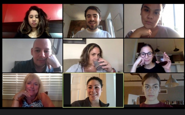 A picture of people on a Zoom call reflecting our webinar and free resource kit for using Zoom